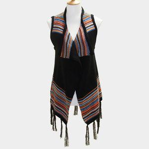 Tribal Fringe Poncho Vest
